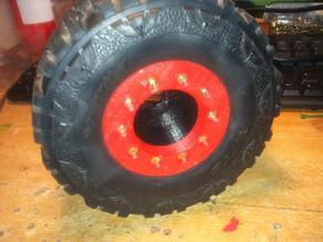 massive beadlock rims for 1/8 scale rc car.