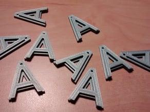 """A"" Key Chain"