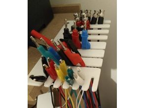 Electronic test leads rack