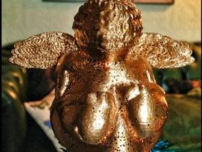 Winged 'Venus of Willendorf' Xmas Treetopper
