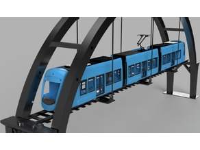 A35 Tram for OS-Railway - fully 3D-printable railway system!