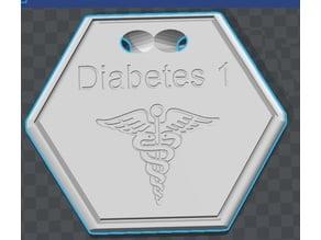 Diabetes 1 Pendent