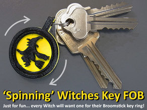 Spinning Witches Key FOB