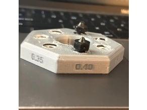 E3D M6 Trapped Nut Nozzle Organizer