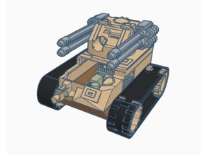 mini RC tank body for Arduino, N20, lego tracks