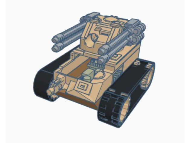 mini RC tank body for Arduino, N20, lego tracks by BuiltBrokenGlued