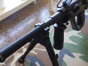 Airsoft Steyr Aug bipod picatinny weaver barrell