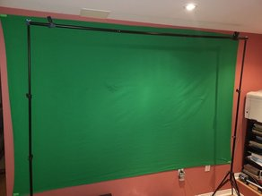 Green screen hanging support