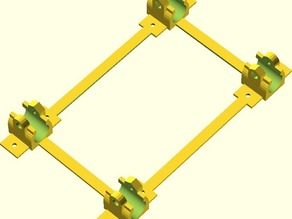 Y Carriage Mounting Frame for LM8UU bearings - Prusa Mendel