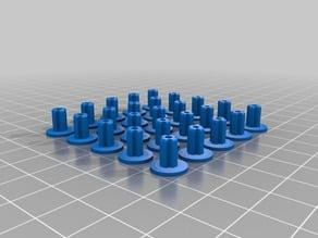 LEGO 9V Motor Spindles 25x