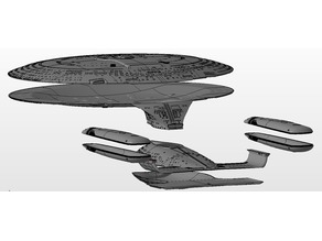 Star Trek Enterprise D 4 foot Studio model