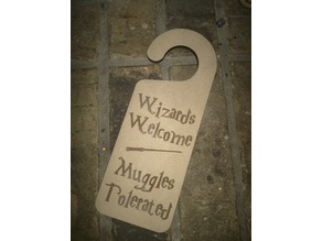 Wizards door knob hanger
