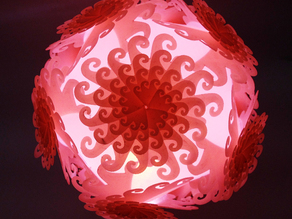 Icosahedron Puzzle Lamp Shade (III) Fractal