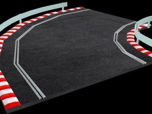 90 degrees scaletrix race track piece