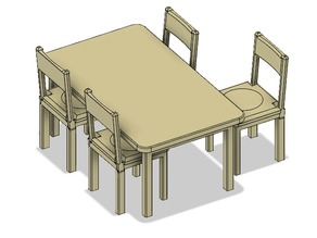 Doll house stuff - Dining table set