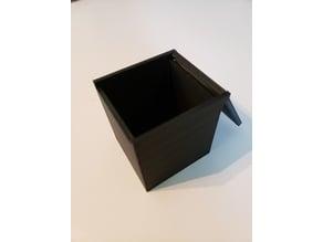 3x3 Rubik's Cube Box (Hinged Lid)