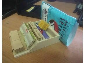 Compact Rolling Paper Organizer & Dispenser
