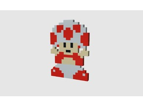 Super Mario Bros - Toad multicolor sprite