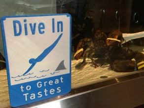 Dive In Sign