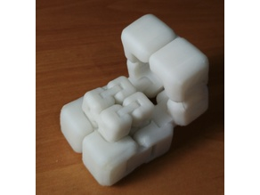 Parametric nesting fidget cube