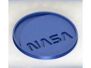 INTERSTELLAR NASA (WORM) LOGO - COASTER