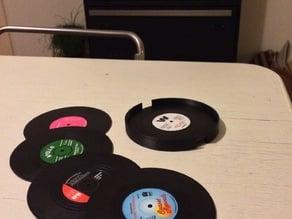 Vinyl Coasters Holder
