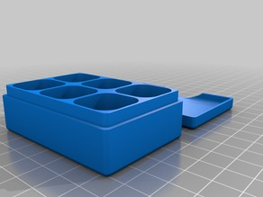 Box with nothced lid and round compartments