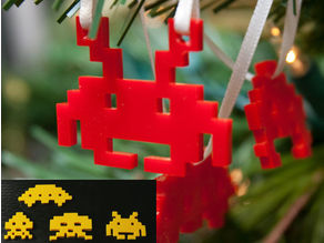 Parametric 8bit Space Invader Ornaments
