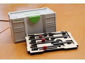 Festool mini systainer tray for lathe tools / Einsatz für Drehstähle