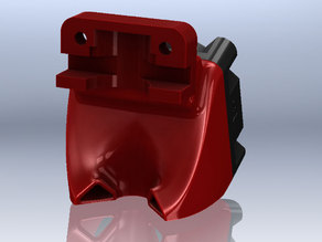 SD3 Extruder Fan Mount (Dual Ducts)