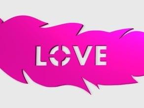 Feather Love Pendant