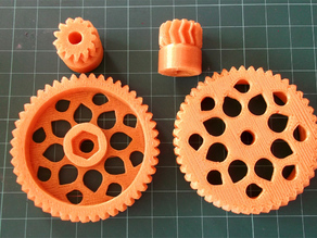 Parametric Herringbone Gear Set for Huxley extruder #30DoC