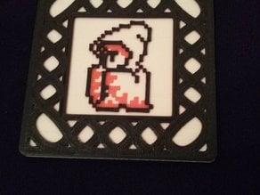 Remix - White mage 8-bit coaster