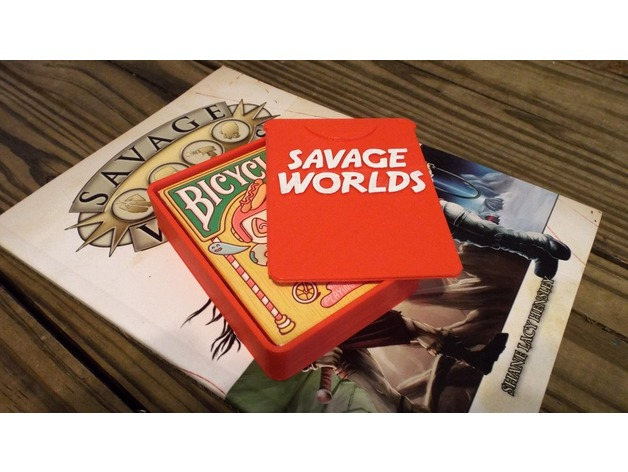 Savage worlds card deck case by rustbubble thingiverse for Bureau 13 savage worlds