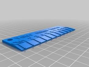 My Generic Customized 3D Name Ruler Example
