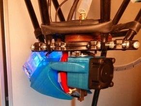 Simple universal E3d double fan cooler