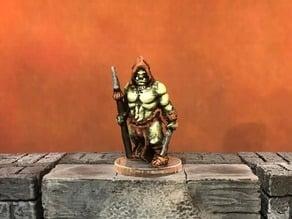 D6Modular Fantasy: Half-Orc Vagabond (Heroic scale)