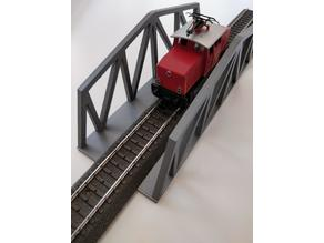 HO Scale Bridge without clips