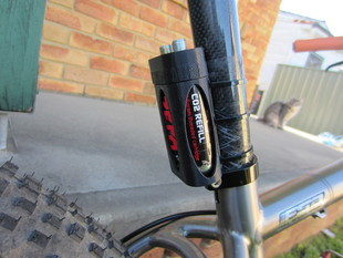 Co2 cartridge holder for Bike seatpost