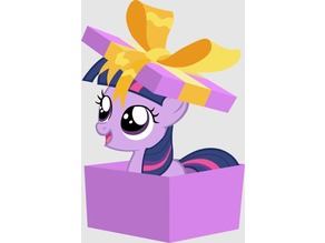 Galavant Griffon - filly Twilight sparkle in box