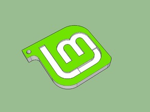 Linux Mint Logo - Keychain