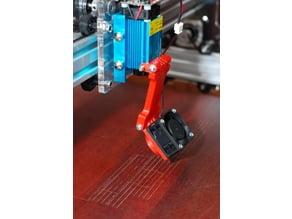 FanDuct for Eleksmaker laser with extender