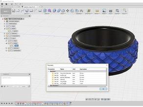 Parametric, printable, spinning fidget ring (Fusion 360)