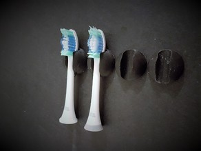 Sonicare toothbrush head mount holder