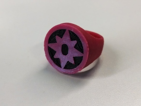 Sapphire Lantern Ring for Dual Extrusion