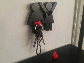 Home Key's Holder (for couple/family) with key chains