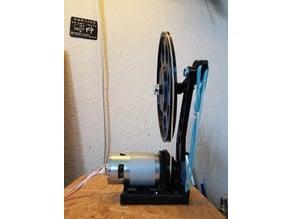 Experimental belt drive assembly for 795 motor // Experimenteller Riementrieb Aufbau für 795 Motor