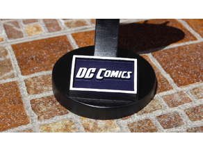 DC Comics Logo Plaque Rectangle
