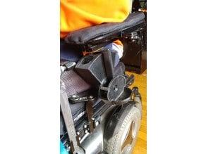 Permobil wheelchair Armrest rail adapter for wheelchair Mounted dog treat dispenser