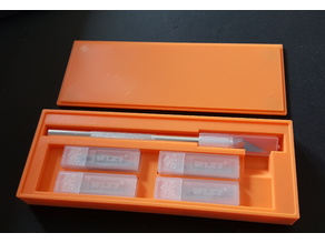 Precision Knife Box with Magnetic Cover